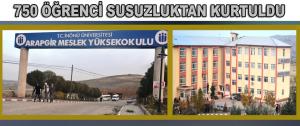 750 Öğrenci Susuzluktan Kurtuldu