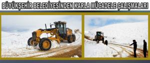 Kar yağışı, ilçe ve kırsal mahallelerde etkili oldu