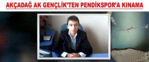 Akçadağ Ak Gençlik'ten Pendikspor'a Kınama