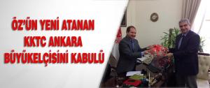 Öz'ün Yeni Atanan Kktc Ankara Büyükelçisini Kabulü