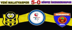 Yeni Malatyaspor 5- 0 Körfez İskenderun Spor