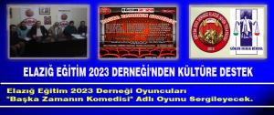 Elazığ Eğitim 2023 Derneği'nden Kültüre Destek