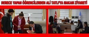 Derece Yapan Öğrencilerden Ali Tatlı'ya Makam Ziyareti