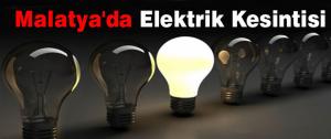 9-10 Aralık Günü Malatya'da Elektrik Kesintisi