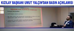 Kızılay Başkanı Umut Yalçın'dan Basın Açıklamısı
