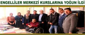 Engelliler Merkezi Kurslarına Yoğun İlgi