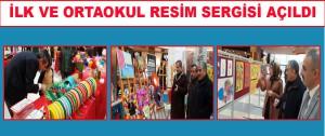 Turgut Özal İlk ve Ortaokulu Resim Sergisi Açıldı