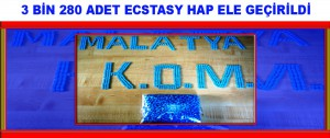 3 Bin 280 Adet Ecstasy Hap Ele Geçirildi