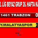 1461 Trabzon 0 Yeni Malatyaspor:2