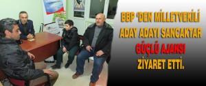 BBP 'Den Milletvekili Aday Adayı Sancaktar Güçlü Ajansı Ziyaret Etti.