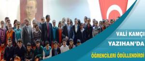 Vali Kamçı Yazıhan'da Başarılı Öğrencileri Ödüllendirdi