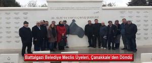 Battalgazi Belediye Meclis Üyeleri, Çanakkale'den Döndü