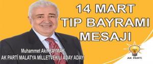 M.Akif Kaymak 14 Mart Tıp Bayramı Mesajı