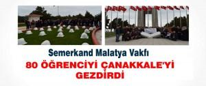 Malatya Semerkand 80 öğrenciyi Çanakkale'yi Gezdirdi.