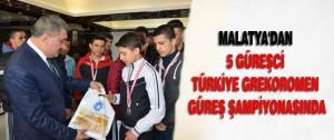 Malatya'dan 5 Güreşci Türkiye Grekoromen Güreş Şampiyonasında