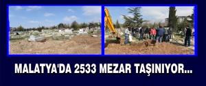 2533 Mezar Taşınıyor…