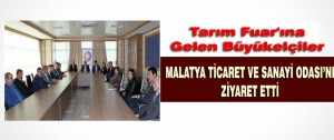 Büyükelçiler Malatya Ticaret ve Sanayi Odası'nı Ziyaret Etti