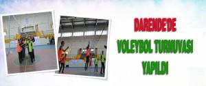 Darende'de Voleybol Turnuvası Yapıldı