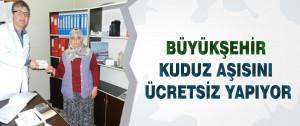 Büyükşehir Kuduz Aşısını Ücretsiz Yapıyor
