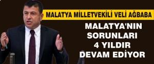 Ağbaba, Malatya'nın Sorunları 4 yıldır Devam Ediyor