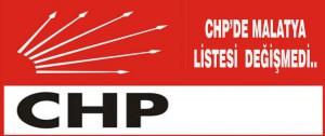 CHP'de Liste Değişmedi..