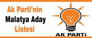 Ak Parti'nin Malatya Aday Listesi