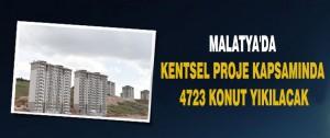 Kentsel Proje Kapsamında 4723 Konut Yıkılacak