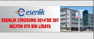 Esenlik Cirosunu 2014'de 307 Milyon 970 Bin Liraya