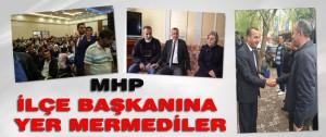 MHP İlçe Başkanına Yer Mermediler