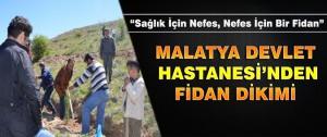 Malatya Devlet Hastanesinden Fidan Dikimi