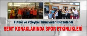 Futbol Ve Voleybol Turnuvaları Düzenlendi
