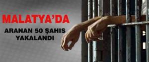 Malatya'da Aranan 50 Şahıs Yakalandı