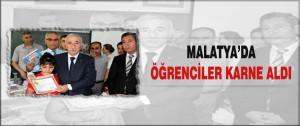 Malatya'da Öğrenciler Karne Aldı