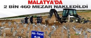 Malatya'da 2 Bin 460 Mezar Nakledildi