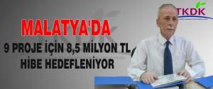 Malatya'da 9 Proje İçin 8,5 Milyon TL Hibe Hedefleniyor