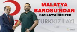 Malatya Barosu'ndan Kızılay'a Destek