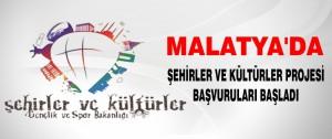 Malatya'da Şehirler ve Kültürler Projesi Başvuruları Başladı