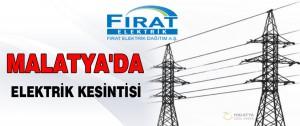11 – 12 Temmuz Malatya'da Elektrik Kesintisi