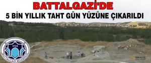 Battalgazi'de 5 bin yıllık taht gün yüzüne çıkarıldı