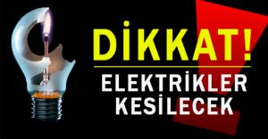 18-19 Eylül Malatya'da Elektrik Kesintisi