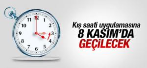 Kış saati uygulaması 8 Kasım'a ertelendi