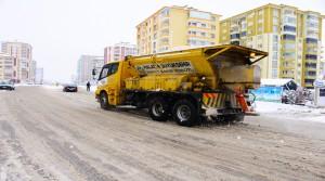 Büyükşehir Malatya Genelinde Karla Mücadele Ediyor