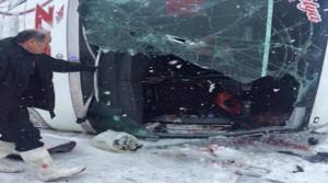 Malatya Firmasının Otobüsü Devrildi 25 Yaralı