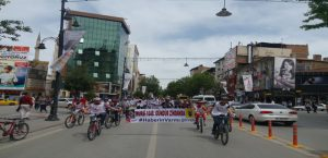 Malatya SP Gençlik Kolları'ndan Bisikletli İle Protesto