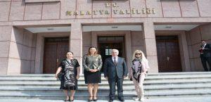 Vali Kamçı, Azeri Misafirlerini Ağırladı