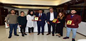 Milli Takıma Seçilen Kuaförler, Başkan Gürkan'ı Ziyaret Etti