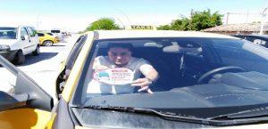 112 Ekipleri ASM ve Taksi Duraklarına Afiş Astı
