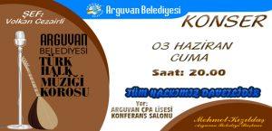 Arguvan Belediyesi THM Korosu Sahne Alıyor