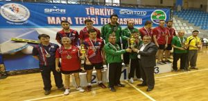 Masa Tenisi Takımı Tokat'ta Şampiyon Oldu