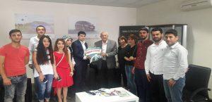 Gençlik Konseyi Başkanı Mehmet Kavuk'u Ziyaret Etti